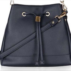 Topshop Navy Blue Crossbody Duffle Bag